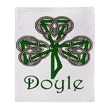 Doyle Shamrock Throw Blanket
