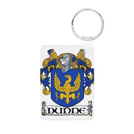 Dunne Coat of Arms Aluminum Photo Keychain