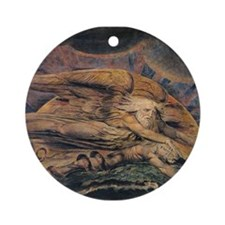 Elohim Creating Adam Ornament (Round)