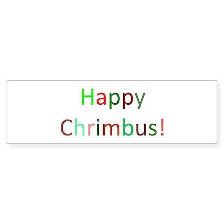 Happy Chrimbus Sticker (Bumper)