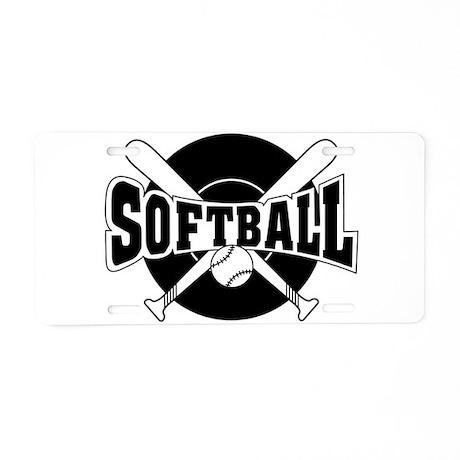 SOFTBALL Aluminum License Plate