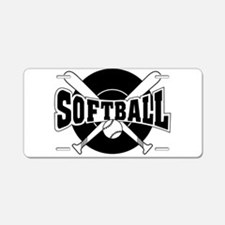 SOFTBALL Aluminum License Plate