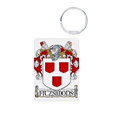Fitzsimons Coat of Arms Aluminum Photo Keychain