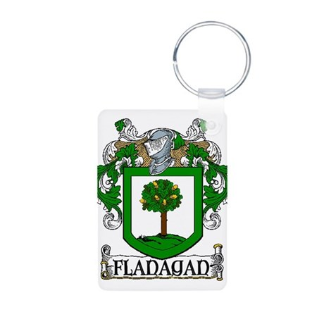 Flanagan Coat of Arms Aluminum Photo Keychain