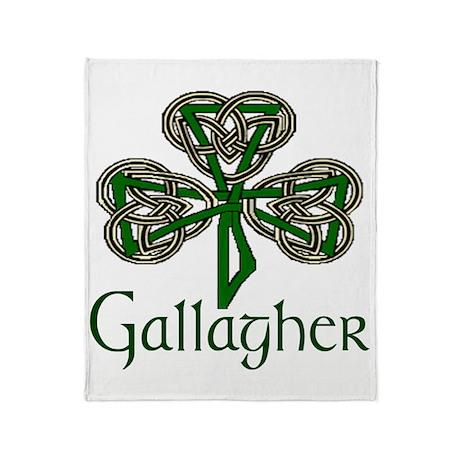 Gallagher Shamrock Throw Blanket