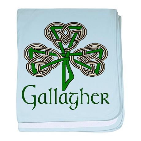 Gallagher Shamrock baby blanket