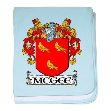 McGee Coat of Arms baby blanket