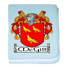 McGill Coat of Arms baby blanket