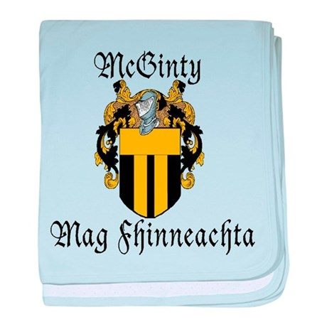 McGinty in Irish & English baby blanket