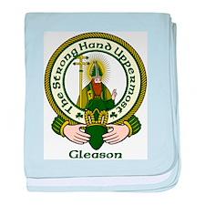 Gleason Clan Motto baby blanket