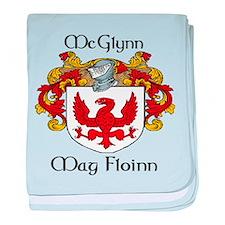 McGlynn in Irish & English baby blanket