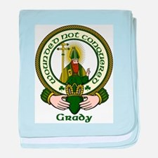 Grady Clan Motto baby blanket