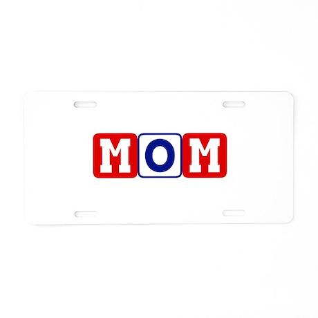 Primary Color Mom Blocks Aluminum License Plate
