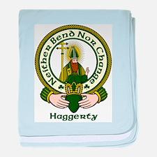 Haggerty Clan Motto baby blanket