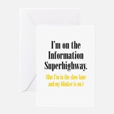 Slow Information Superhighway Greeting Card