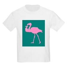 Pink Flamingo With Martini On Kids T-Shirt