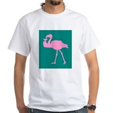 Pink Flamingo With Martini On Shirt