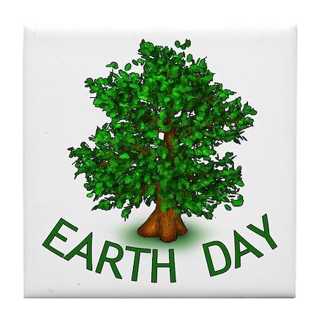 Earth Day Tree Hugger Tile Coaster