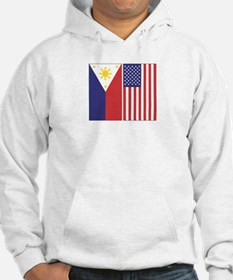 Philippine & US Flags Hoodie