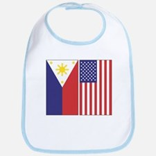 Philippine and US Flags Bib