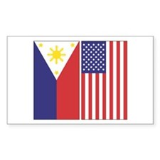 Philippine & US Rectangle Decal