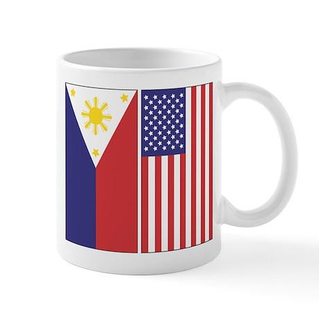 Philippine and US Flags Mug