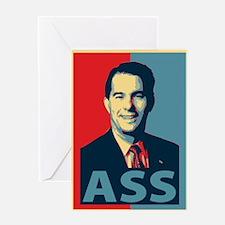 Scott Walker Ass Greeting Card