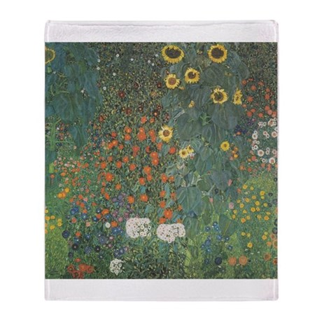 Country Garden with Sunflower Throw Blanket
