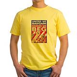 Pro union Mens Yellow T-shirts