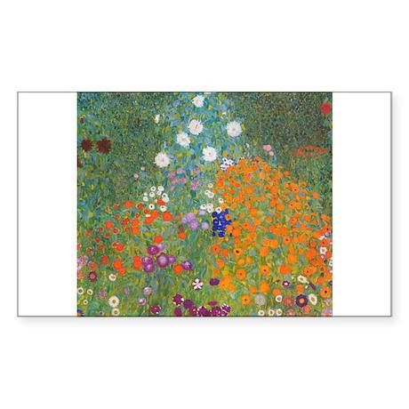 Flower Garden Sticker (Rectangle)