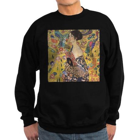 Woman with Fan Sweatshirt (dark)