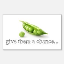 GIVE PEAS A CHANCE Sticker (Rectangle 10 pk)