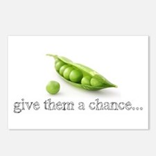 GIVE PEAS A CHANCE Postcards (Package of 8)