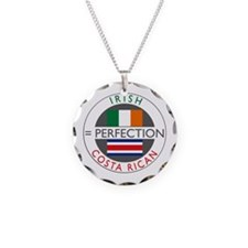 Irish Costa Rican flags Necklace