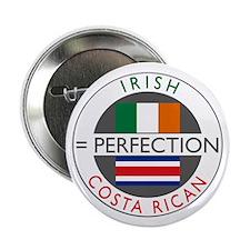 "Irish Costa Rican flags 2.25"" Button"
