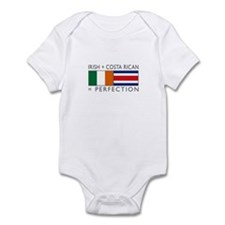 Irish Costa Rican flags Infant Bodysuit