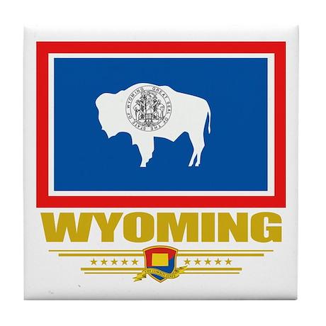 Wyoming Pride Tile Coaster