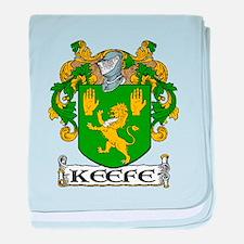 Keefe Coat of Arms baby blanket