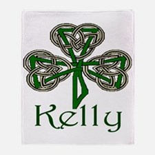 Kelly Shamrock Throw Blanket