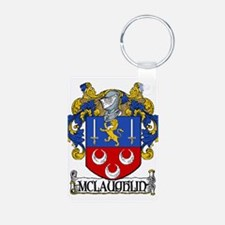 McLaughlin Coat of Arms Aluminum Photo Keychain