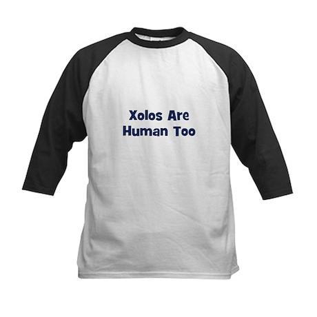 Xolos Are Human Too Kids Baseball Jersey