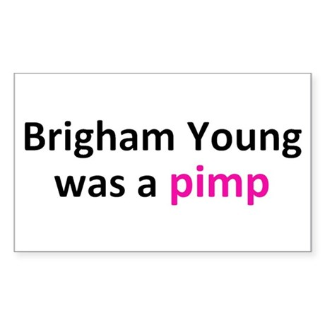 Brigham Young Sticker (Rectangle)