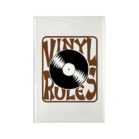 Vinyl Rules Rectangle Magnet
