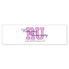 Runway Magazine - Runway Univ Bumper Sticker
