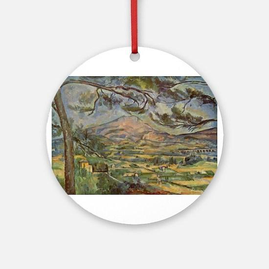Mont Sainte Victoire Ornament (Round)