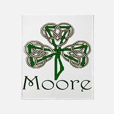 Moore Shamrock Throw Blanket