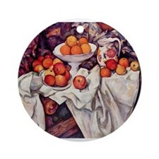 Still Life with Apples and Or Ornament (Round)