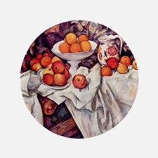 """Still Life with Apples and Or 3.5"""" Button"""