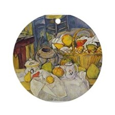 Still Life with Fruit Basket Ornament (Round)