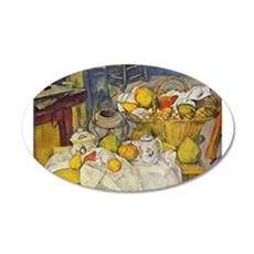 Still Life with Fruit Basket 22x14 Oval Wall Peel